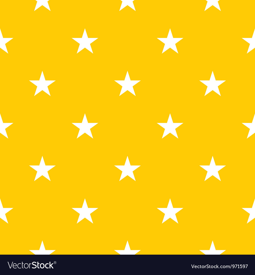 Seamless pattern with stars on yellow background vector