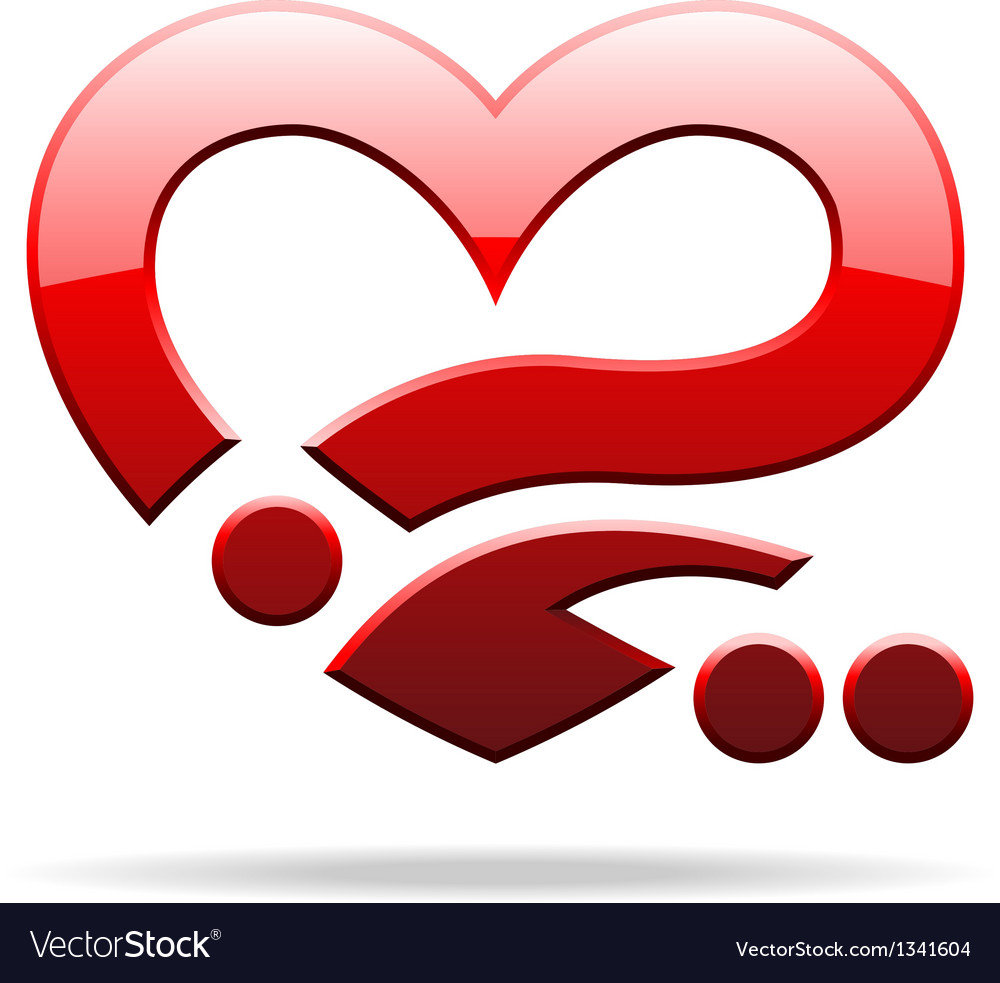 Abstract heart sign vector