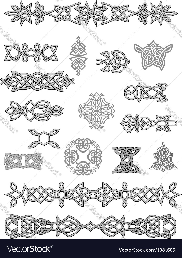 Celtic ornaments and embellishments vector