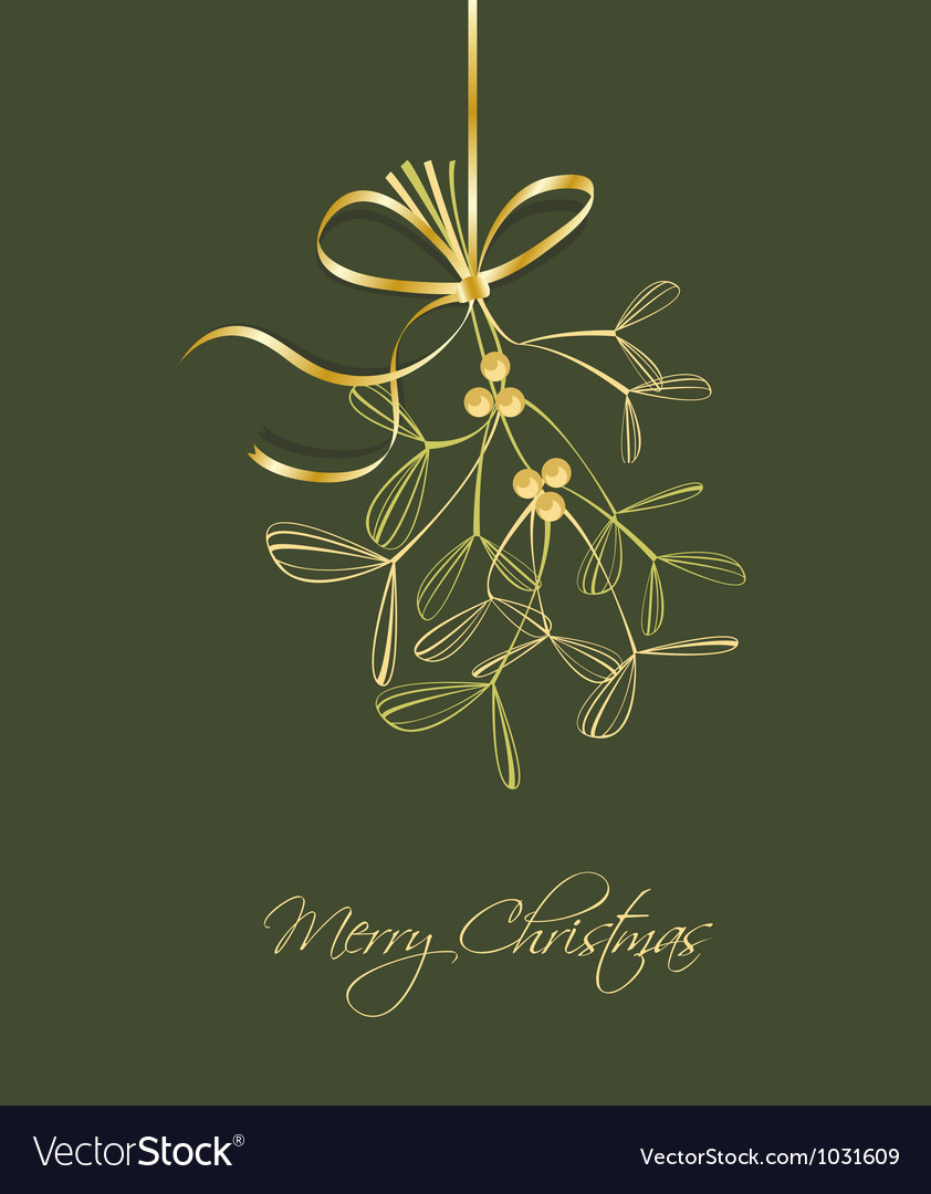 Mistletoe vector
