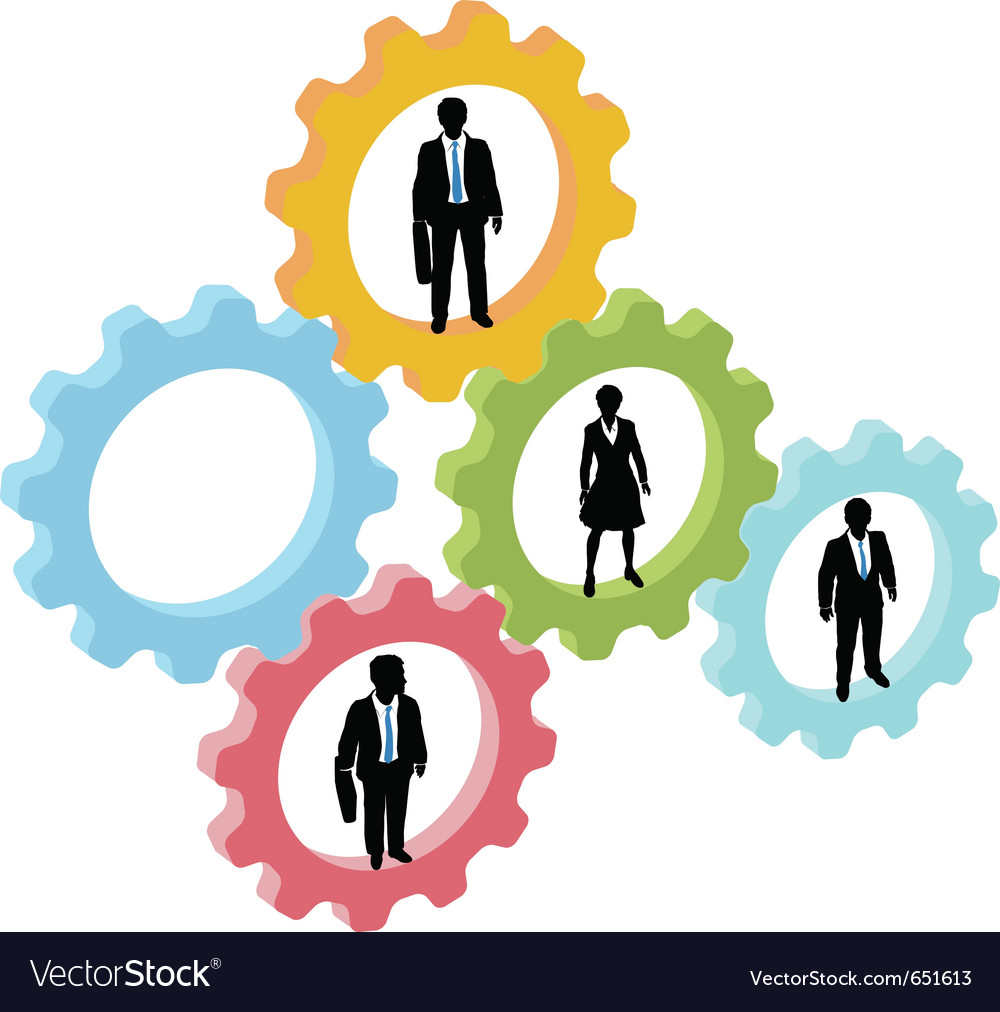 Business people technology concept vector