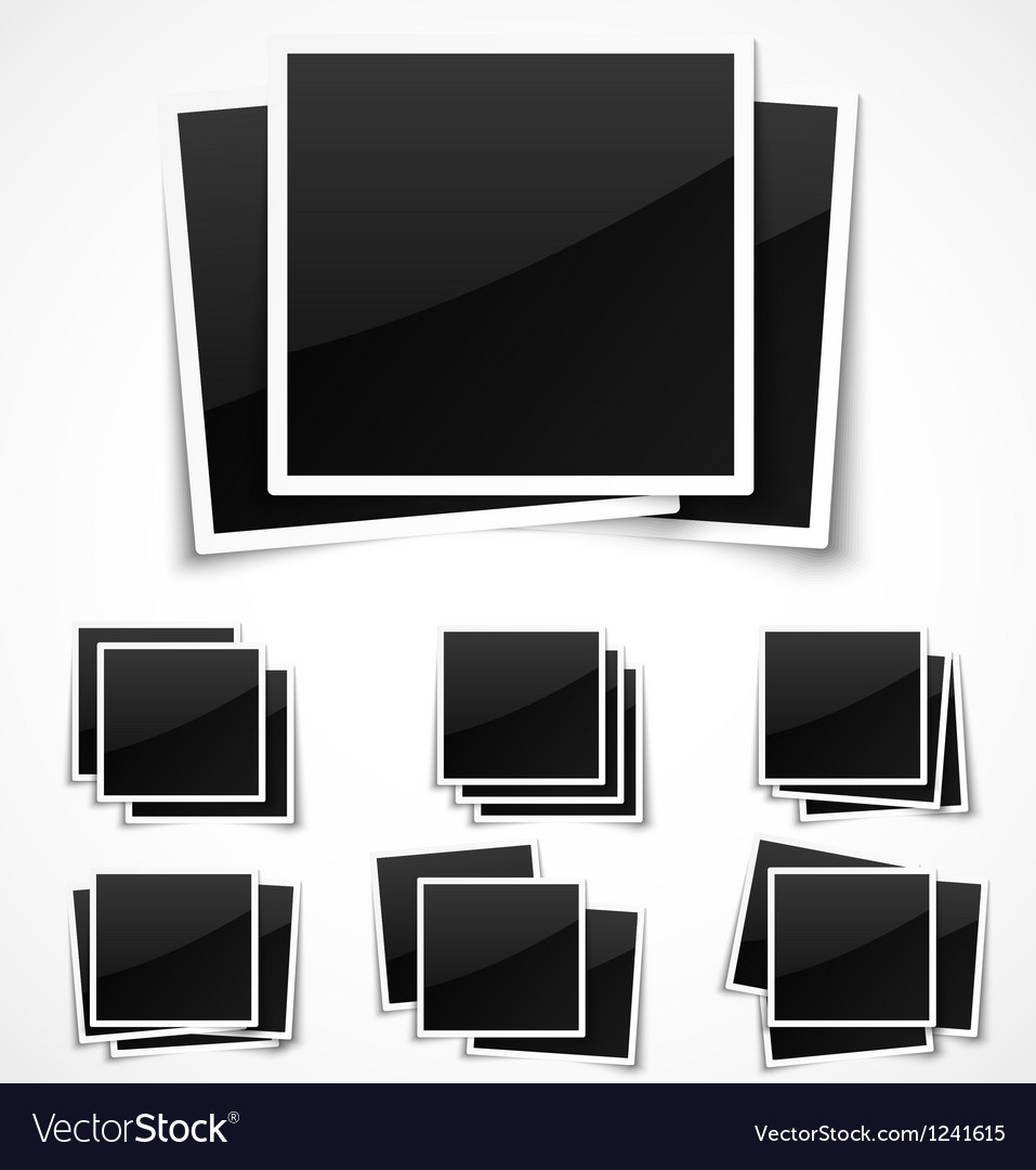 Square empty photo frames vector