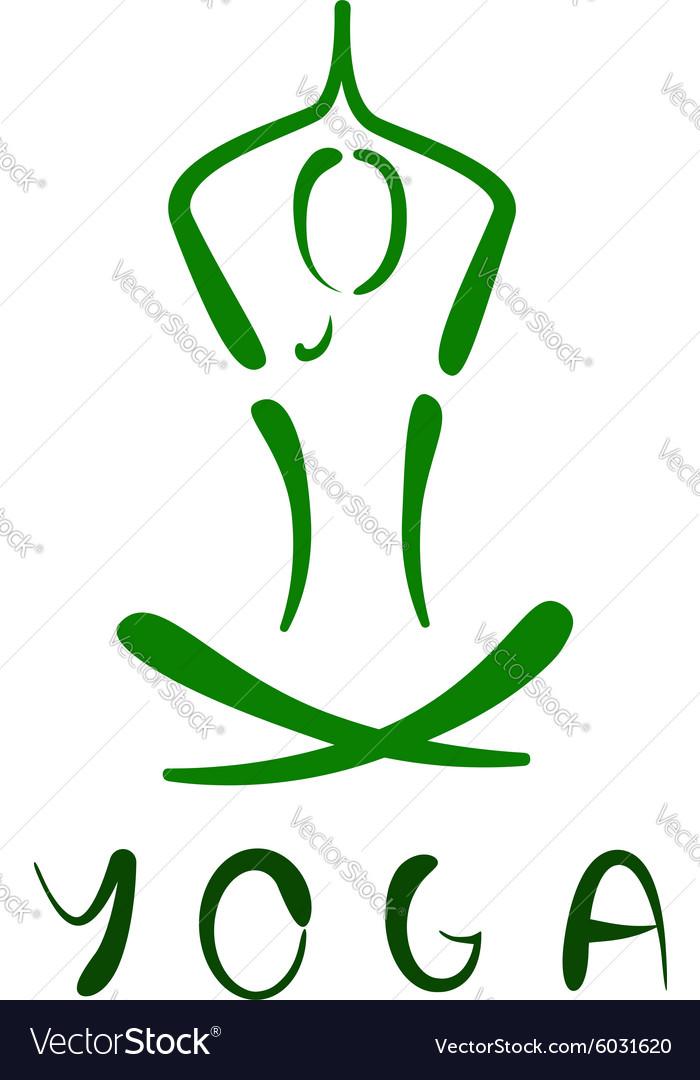 Vecteur de conception de logo yoga — Image vectorielle anetkata © #2461221