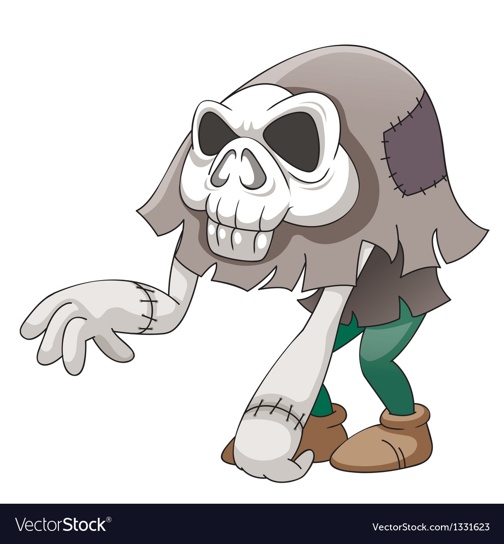 Skull monster vector
