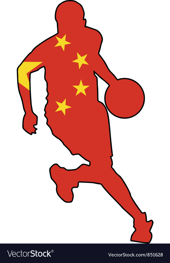 Basketball colors of china vector