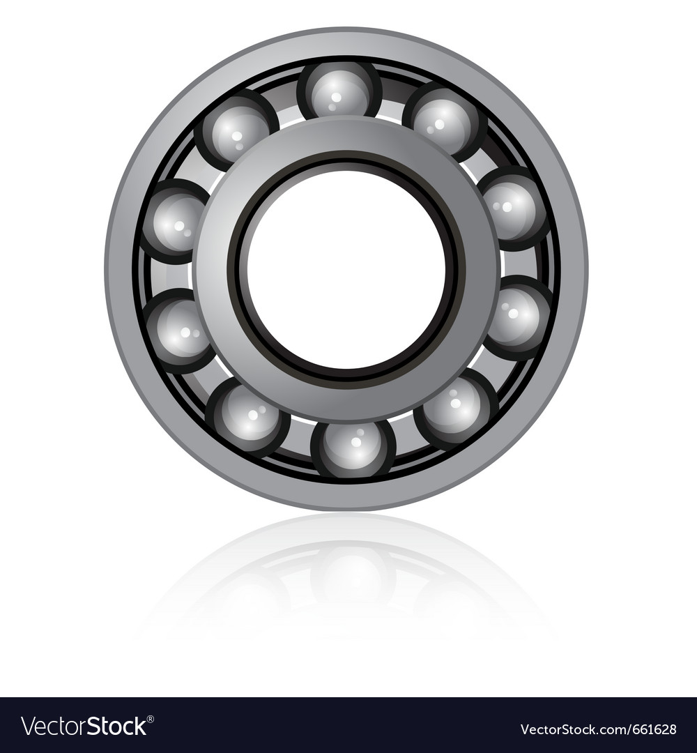 Bearings on a white background vector