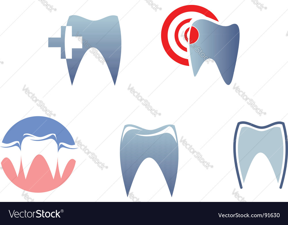 Dental signs vector
