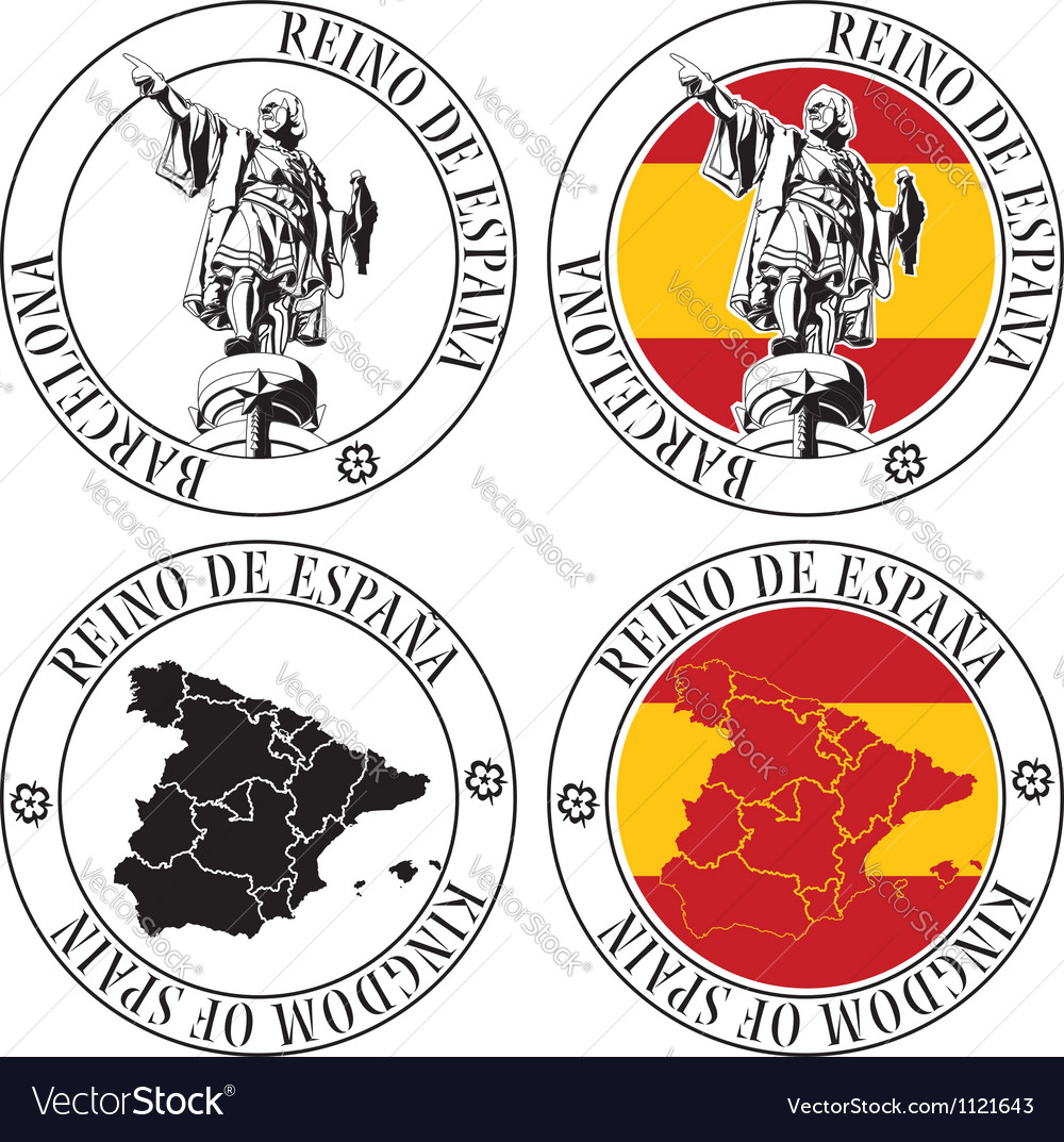 Spanish stamp vector