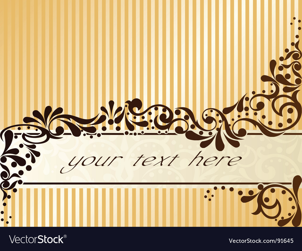 Vintage sepia banner horizontal vector