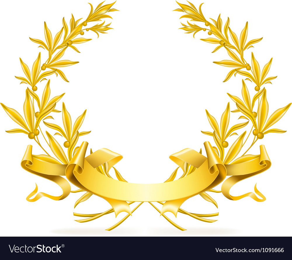 Gold wreath vector