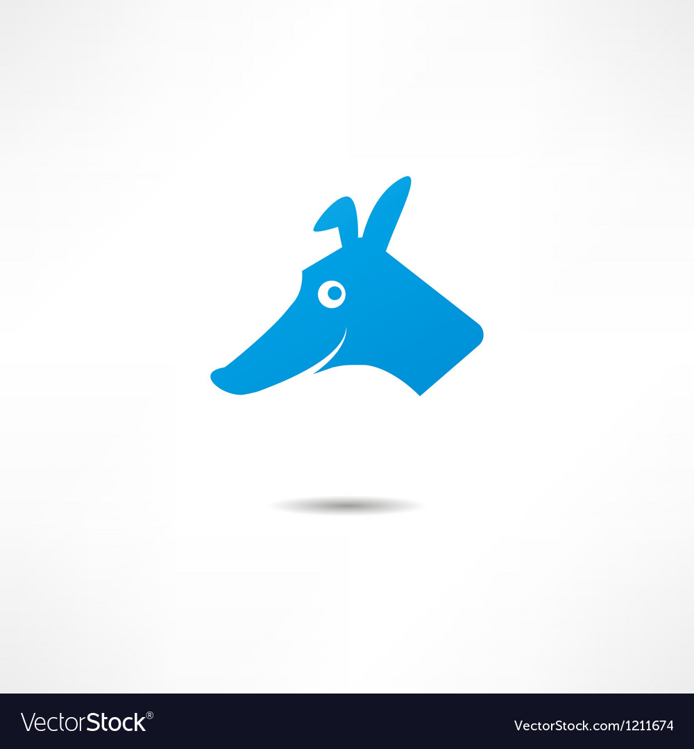 A smiling dog vector