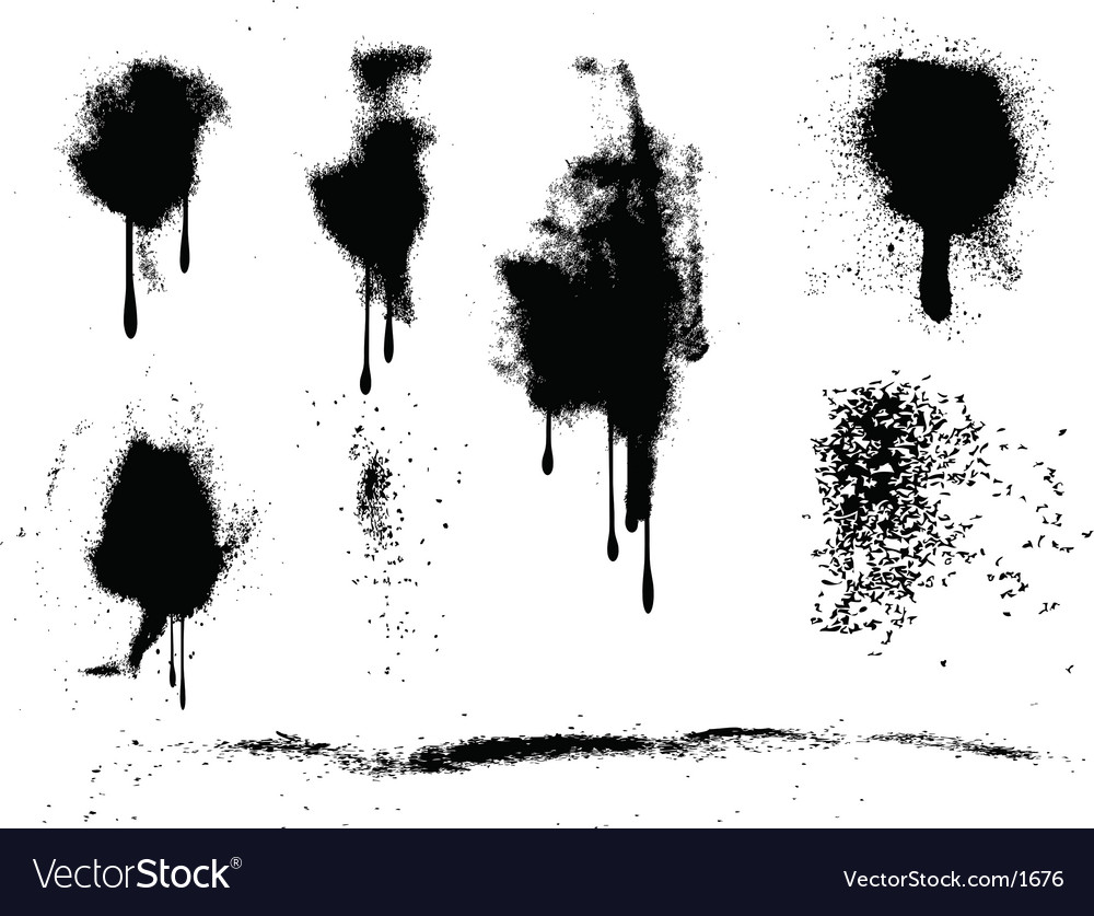 Grunge paint splats vector