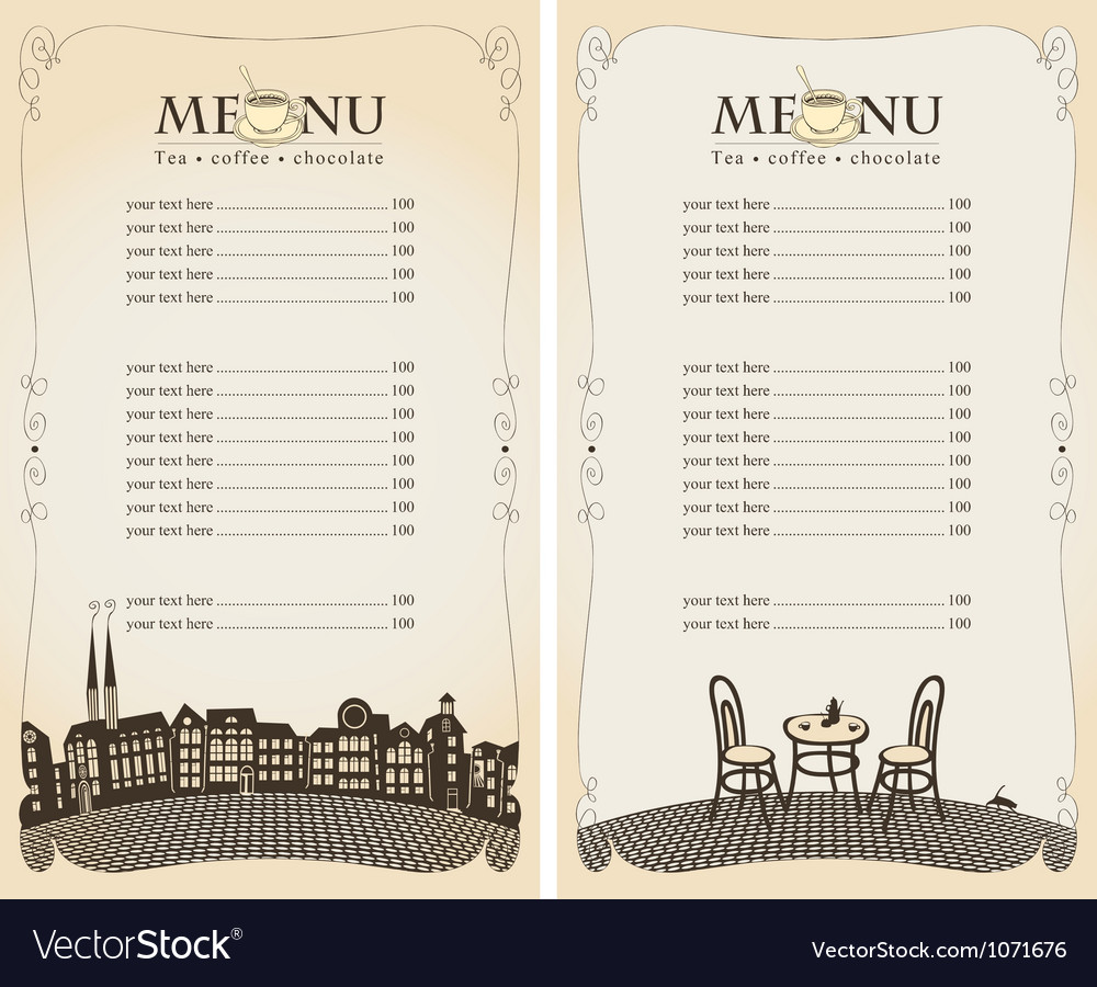 Menu pavement vector