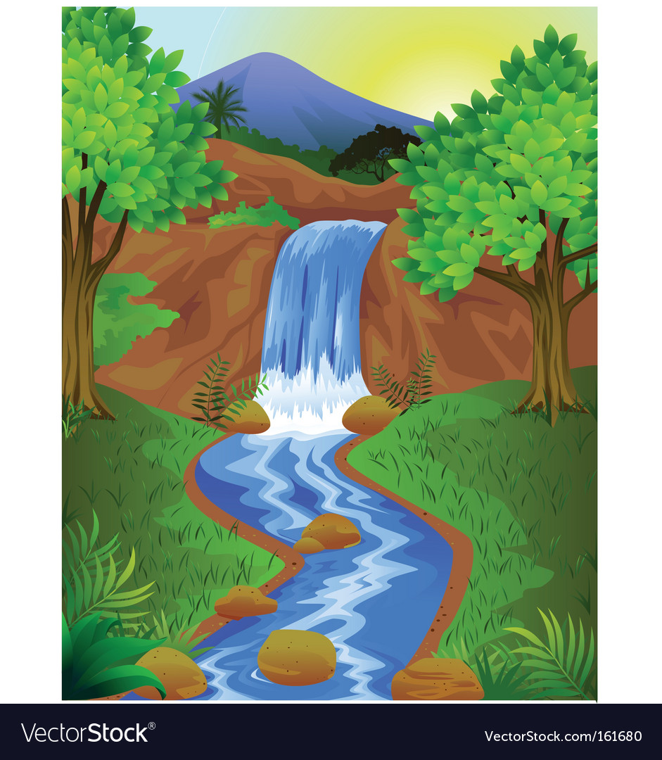 Waterfall vector
