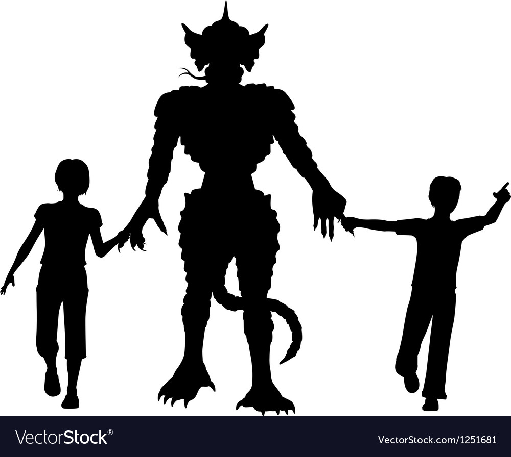 Monster kids vector