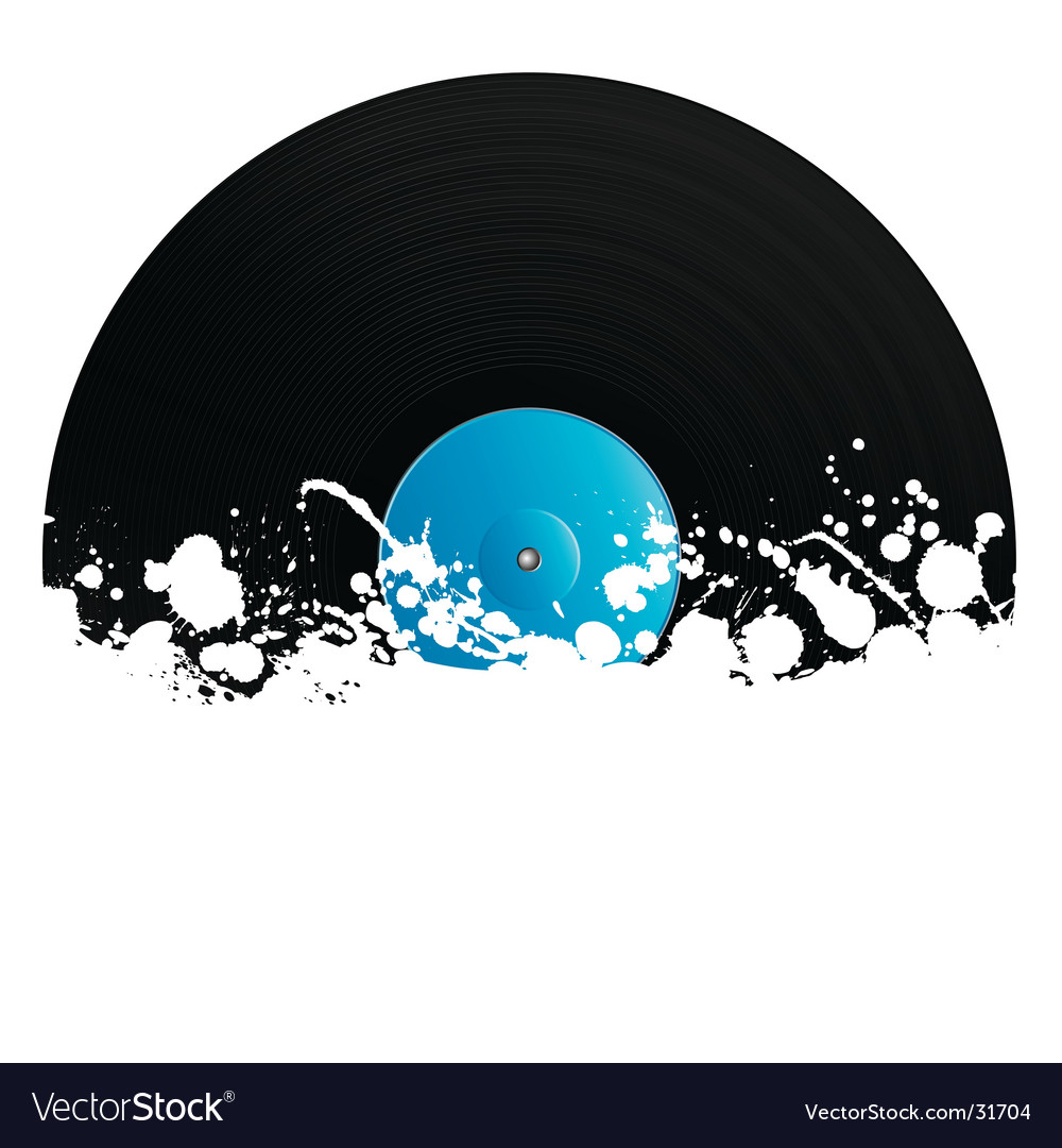 Splatter retro vinyl design element vector