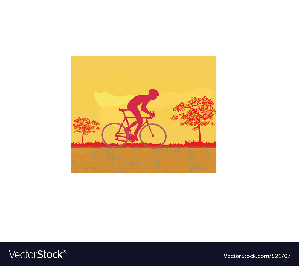 Free cycling grunge poster template vector