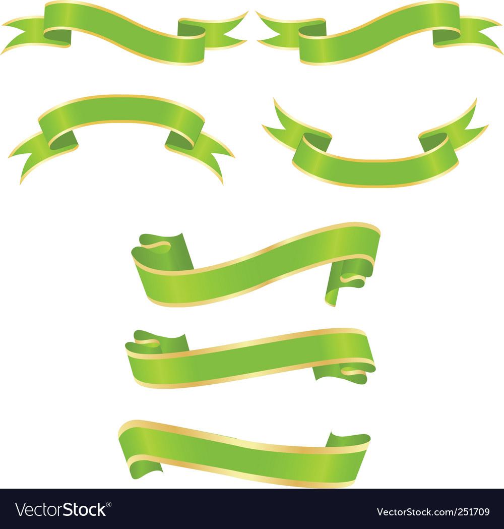 Green banners vector