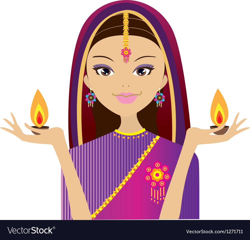 Indian style artwork vector