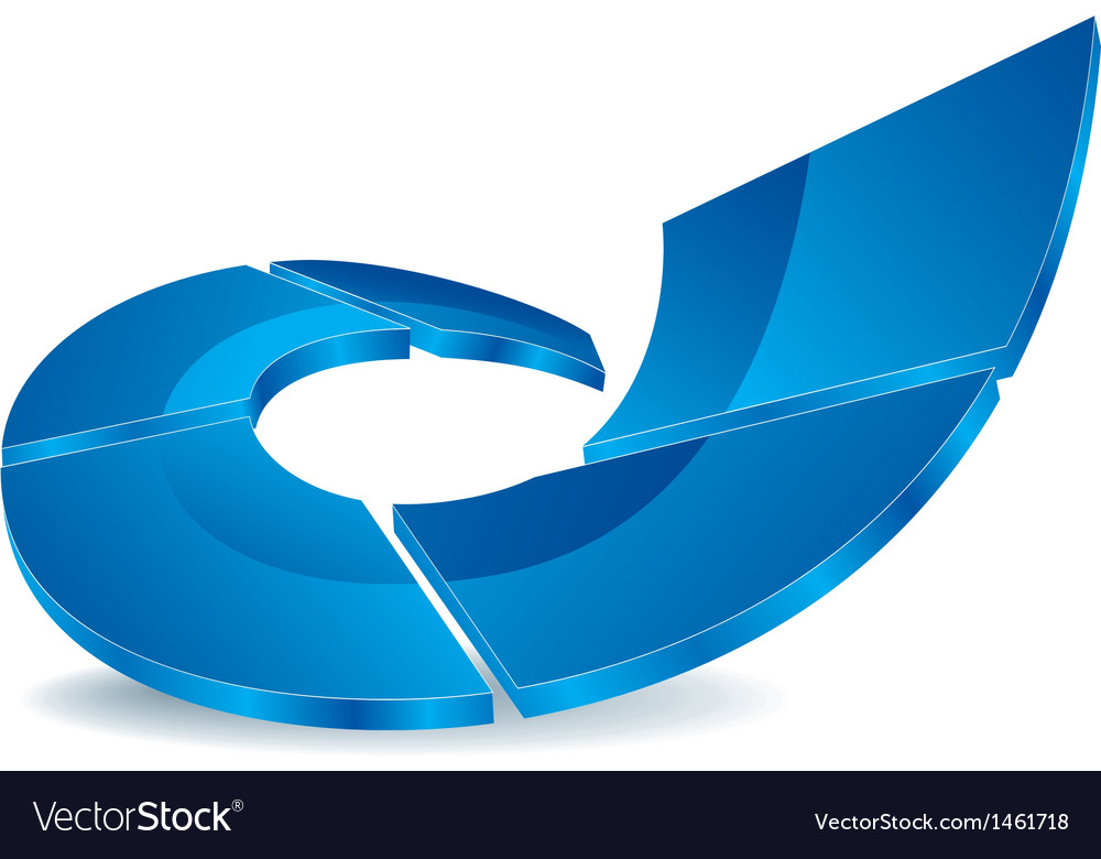Logo blue rise vector