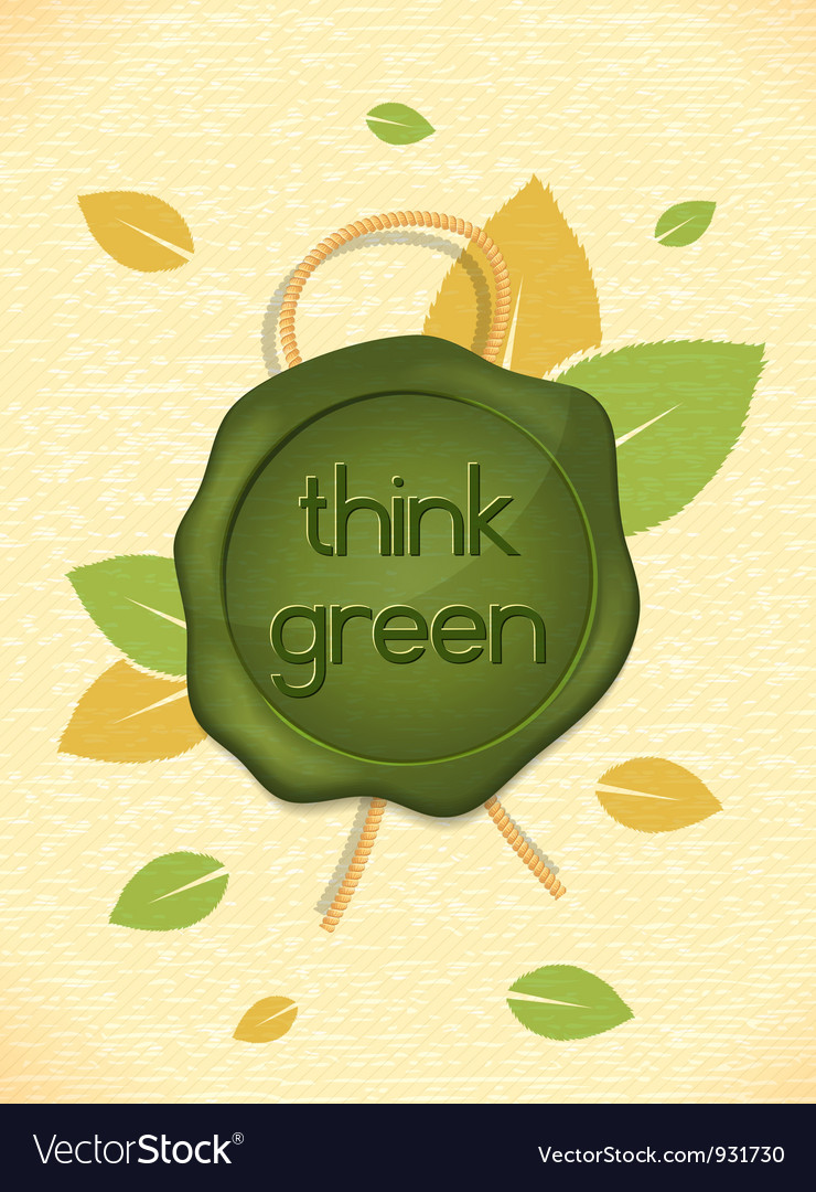 Free eco friendly design vector