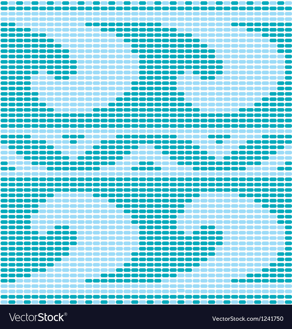 Blue crochet pattern vector