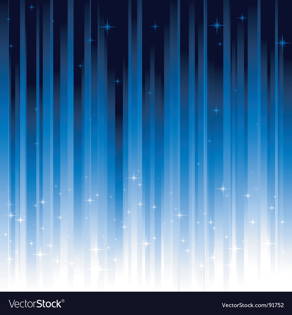 Stars blue vertically striped background vector