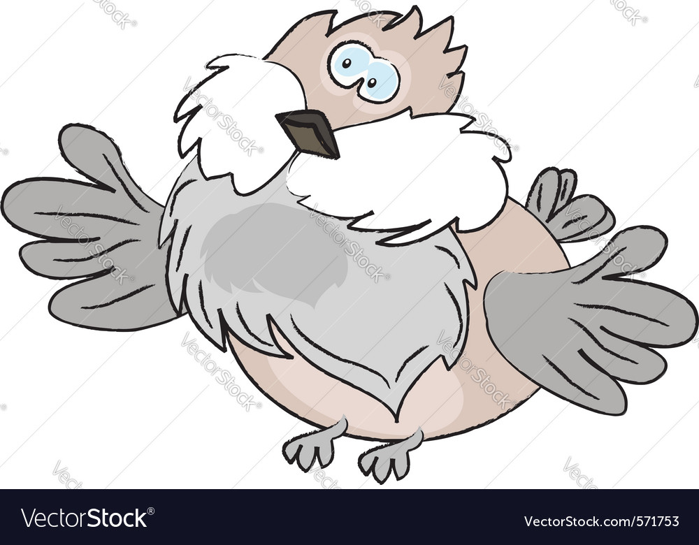 Cartoon sparrow vector