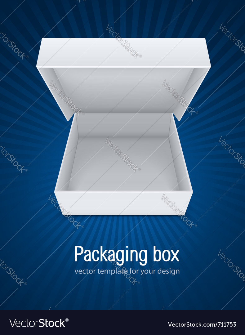Empty open packaging box vector