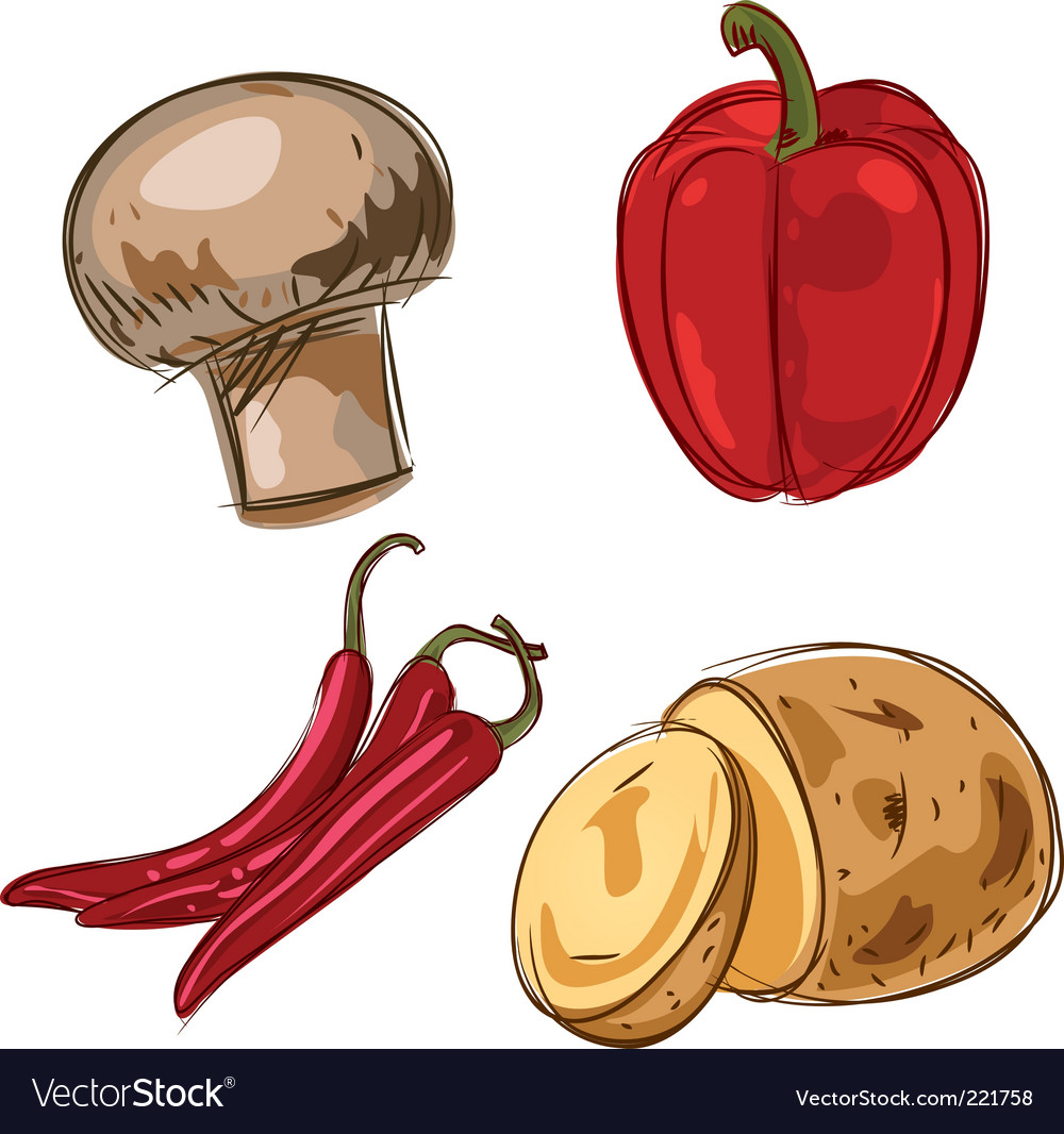 Set of ingredients vector
