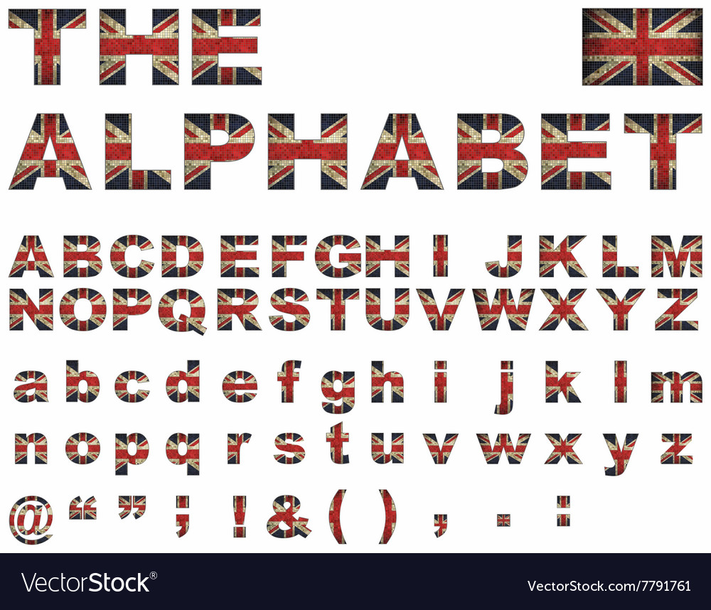 British flag font vector by dusica69 - Image #7791761 ...
