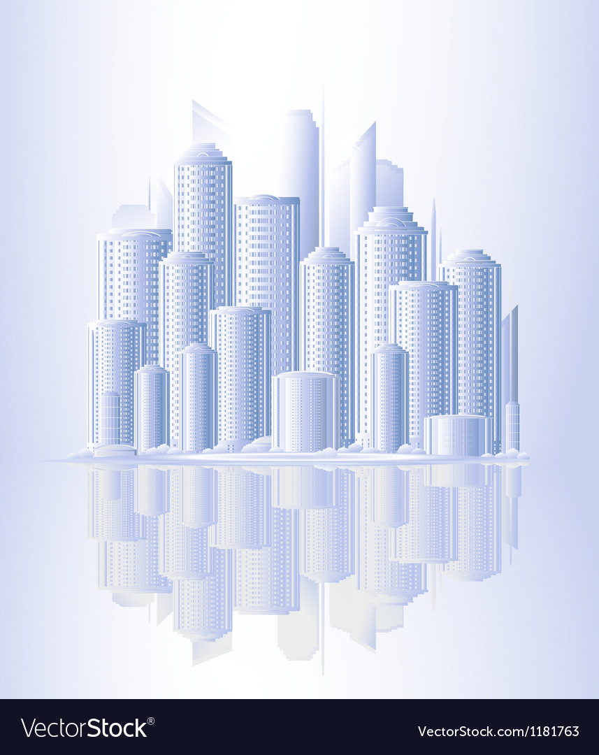 Urban landscape with skyscrapers vector