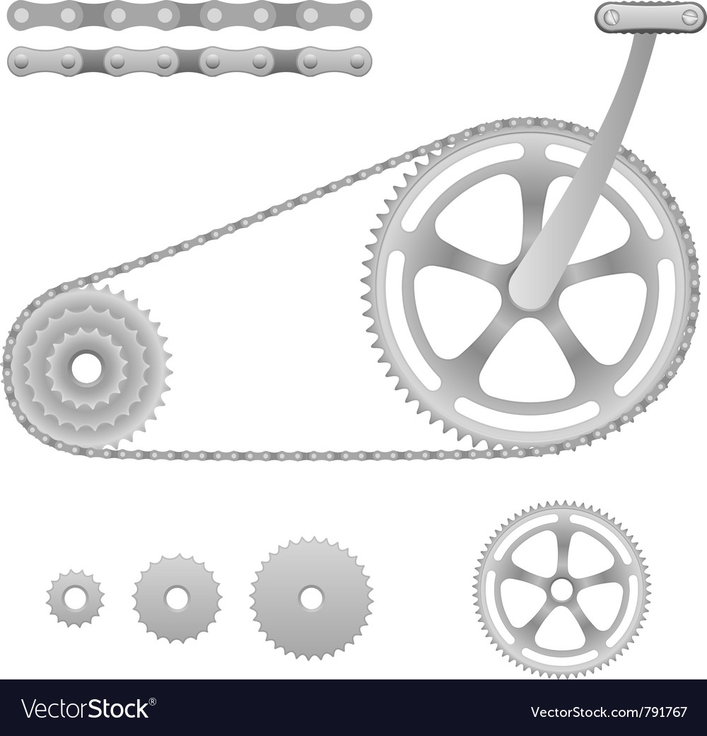 Bicycle gear vector