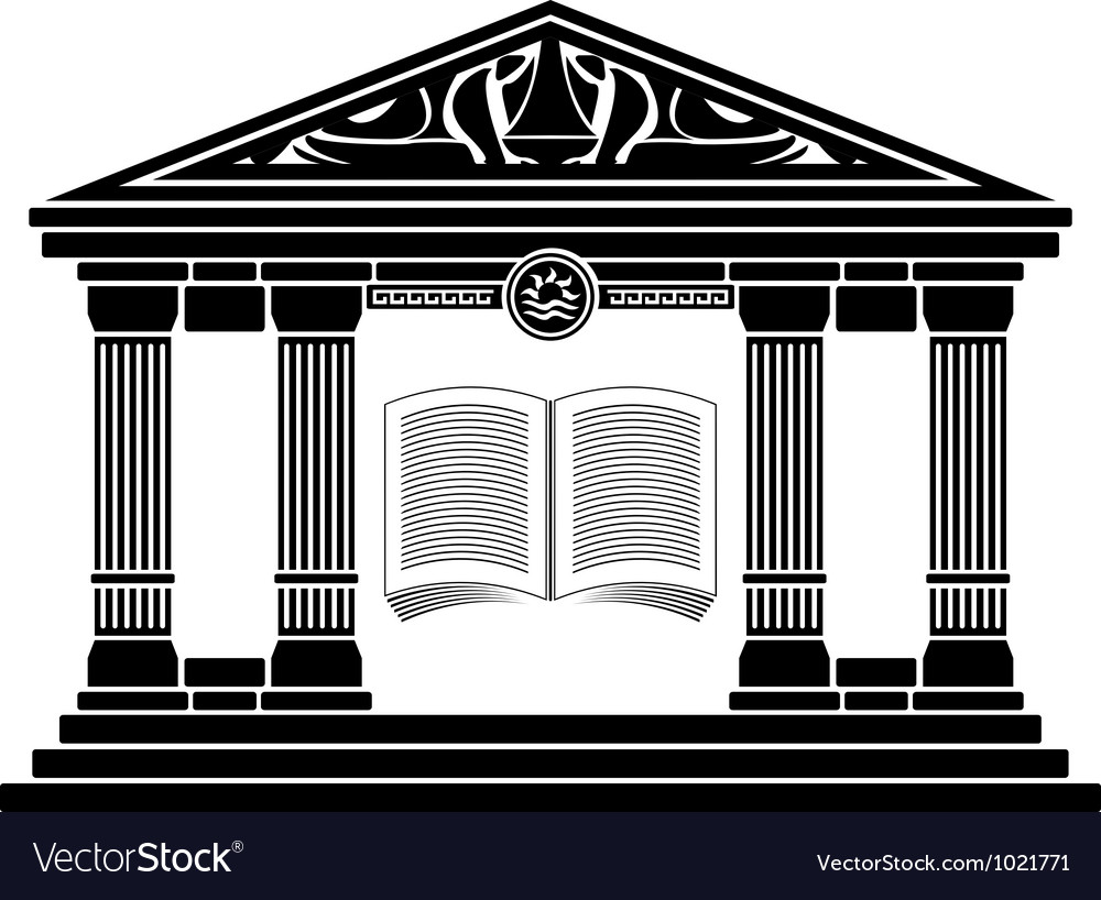 Ancient hellenic school vector