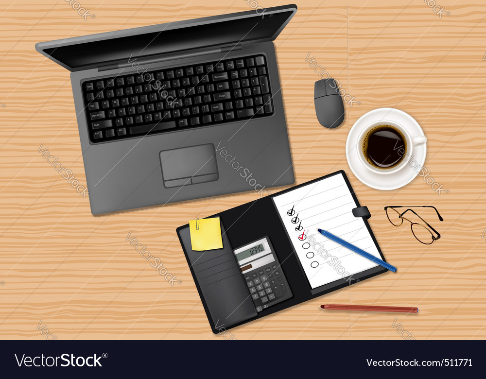 Laptop computer and notebook vector