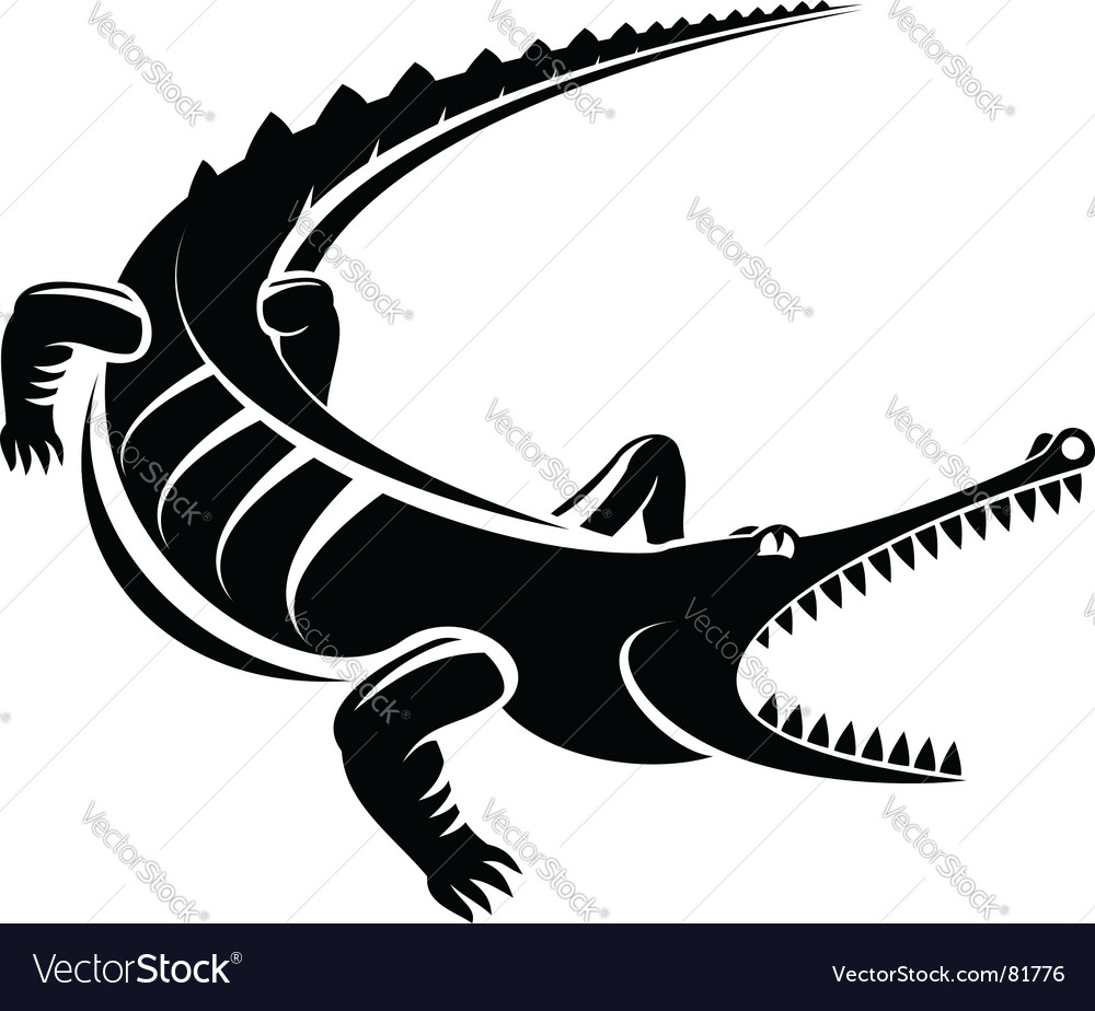 Crocodile mascot vector