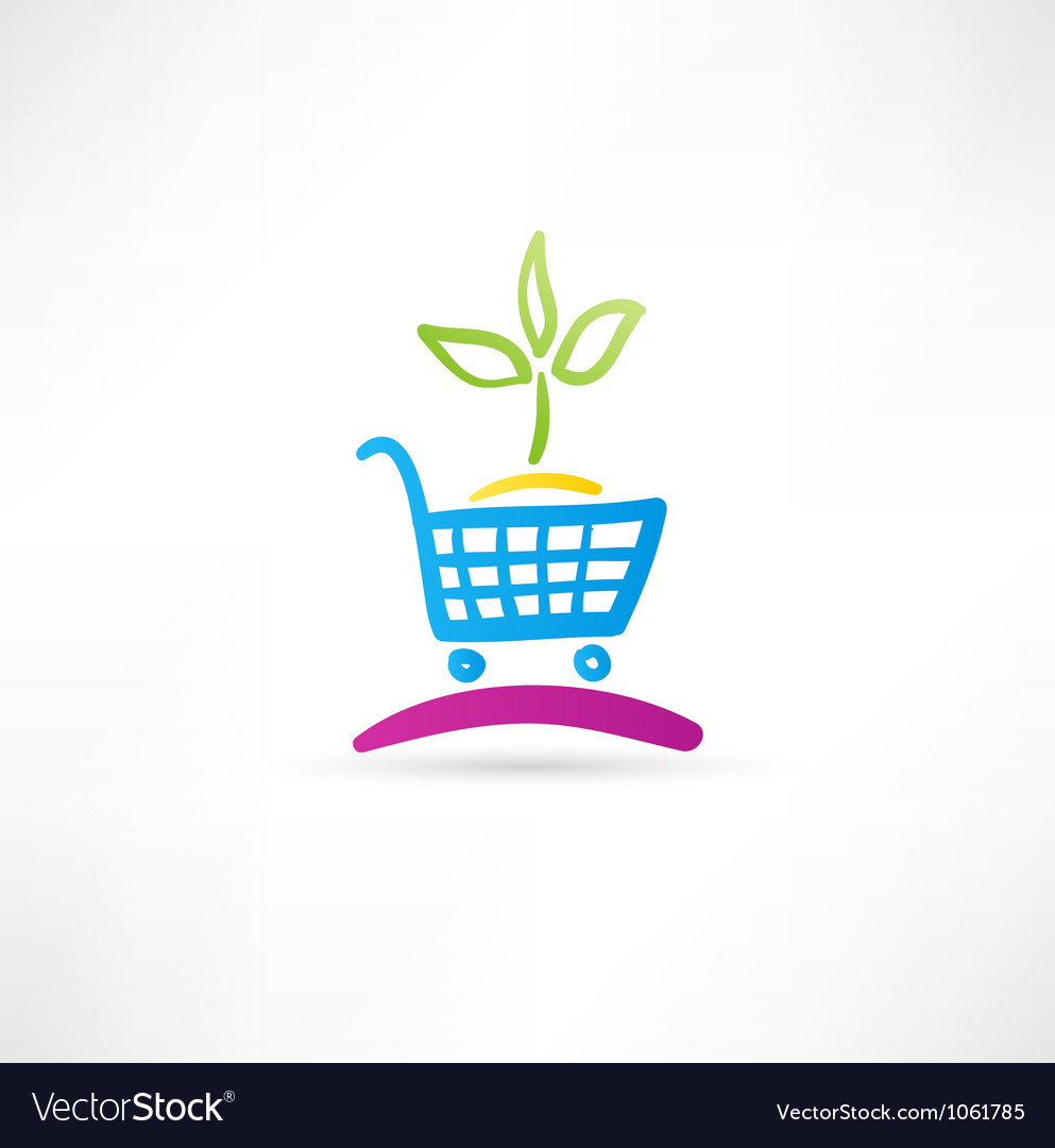 Symbol is ecological shopping vector