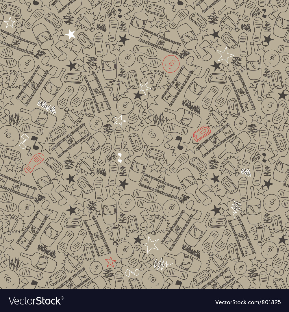 Seamless texture in grunge style vector