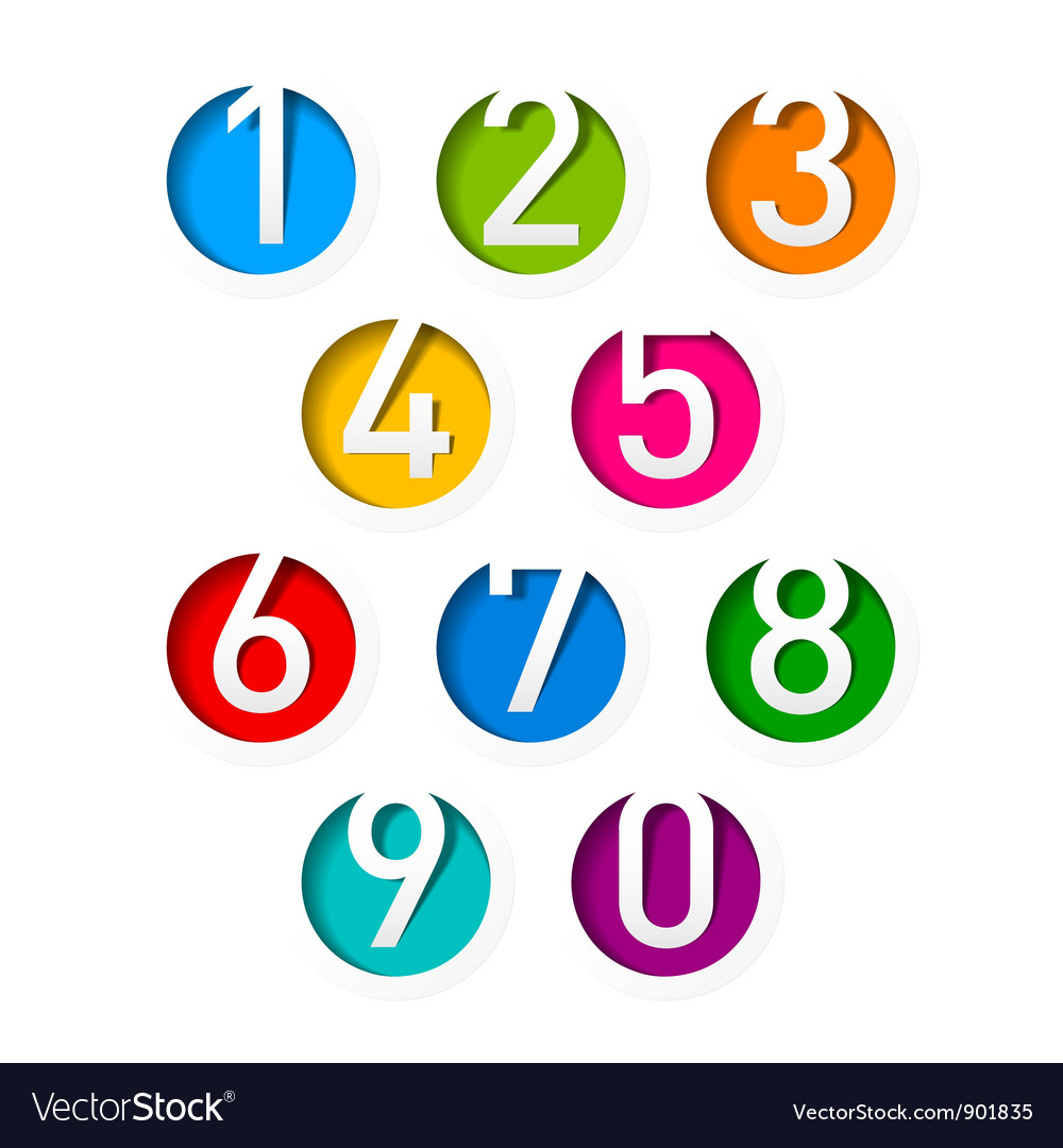 Numbers set vector