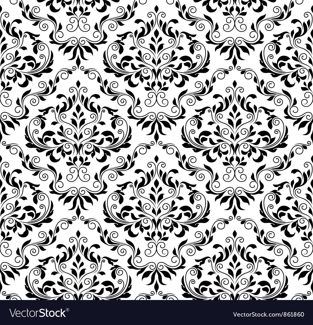 Free damask seamless pattern vector