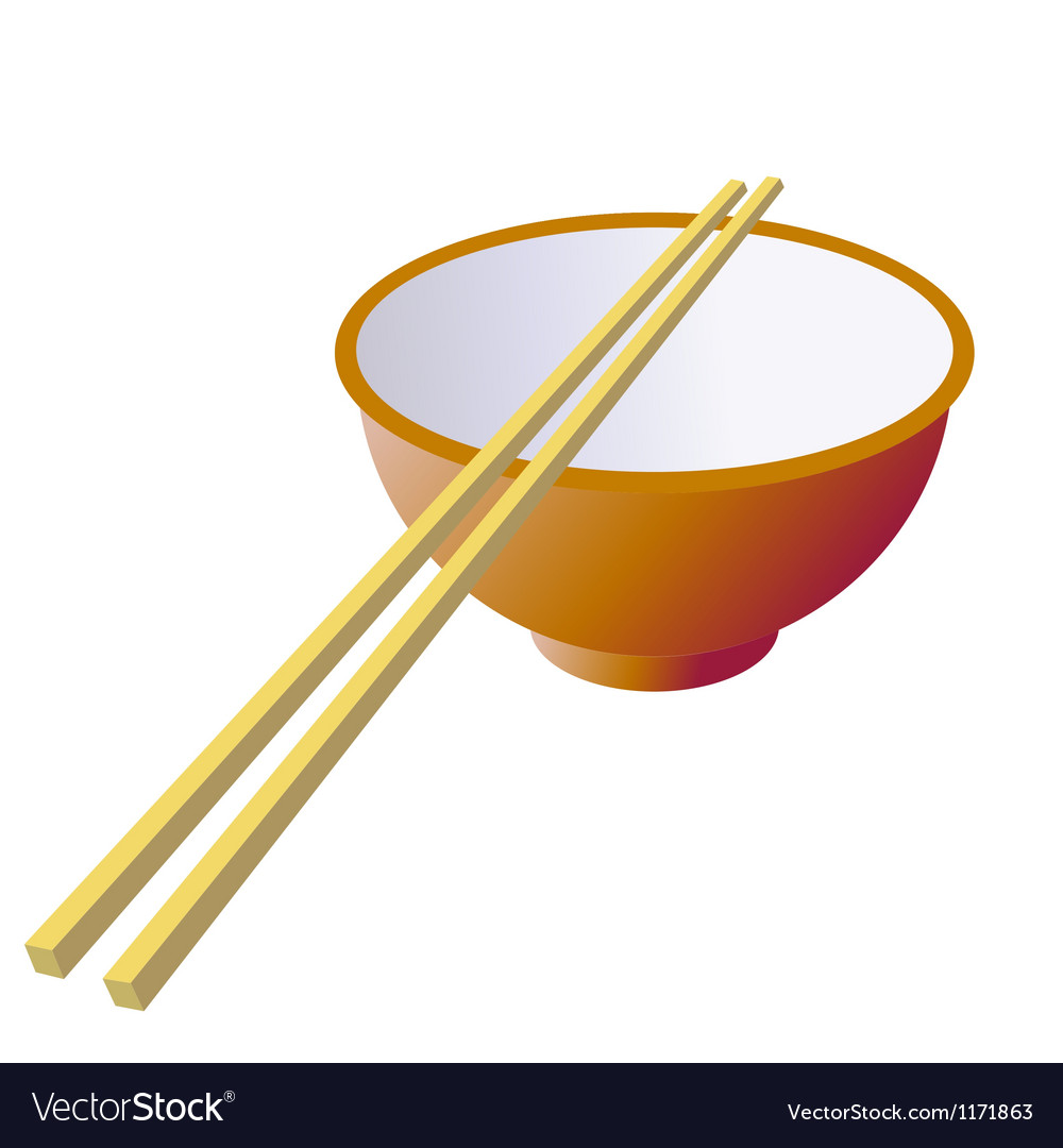 Ceramic mug with wooden sticks vector