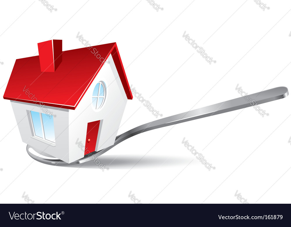 New house ready to use vector