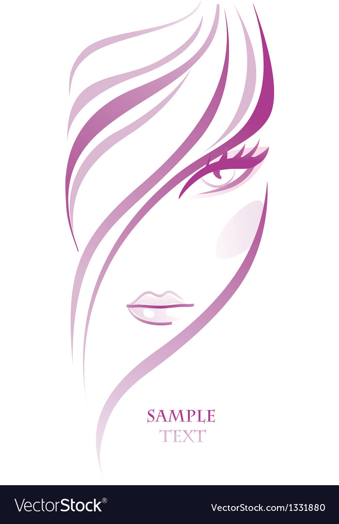 Abstract fashion girl hairs icon vector