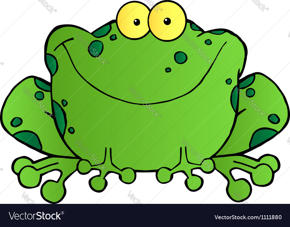 Fat frog cartoon mascot character vector