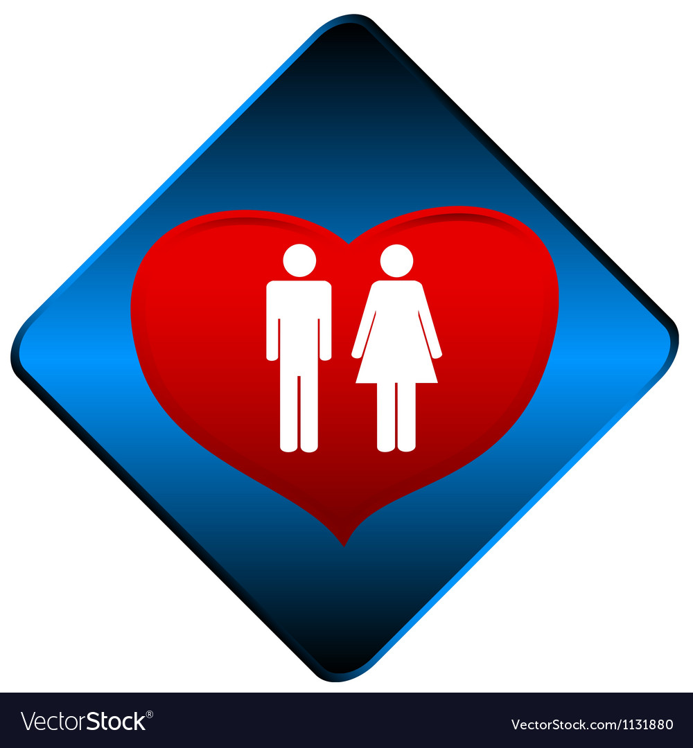 Man and woman symbol vector