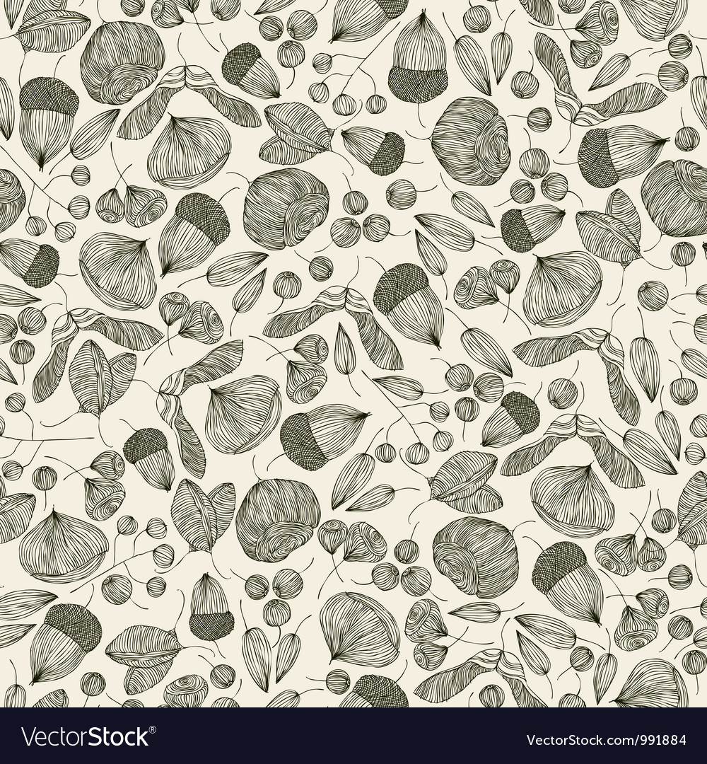 Seeds seamless pattern vector