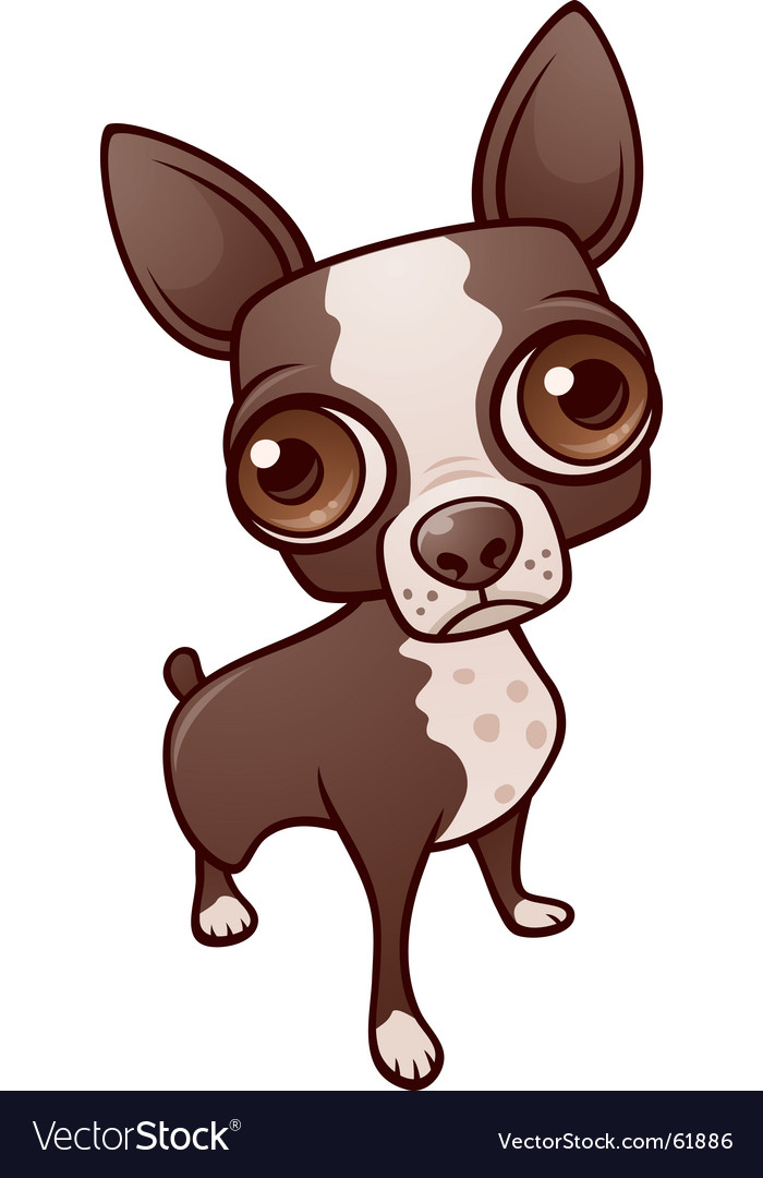 Cute but sad puppy dog vector