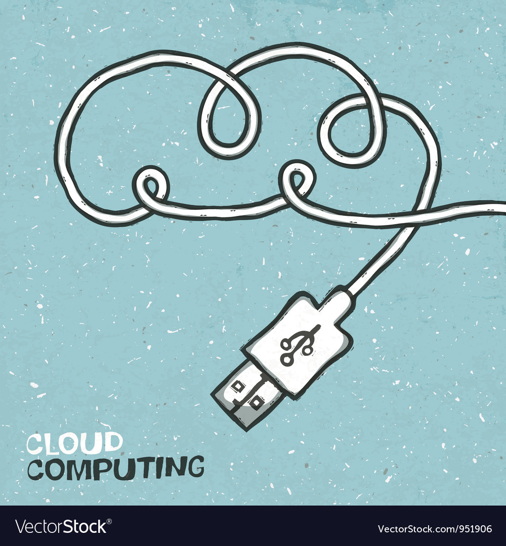 Cloud computing concept poster vector
