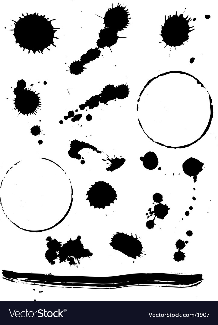 Splats and stains vector