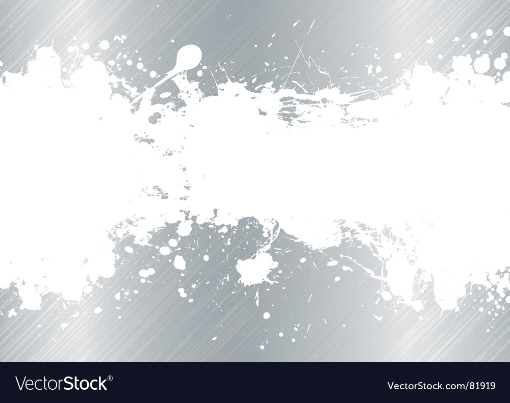 Brushed metal ink splat vector